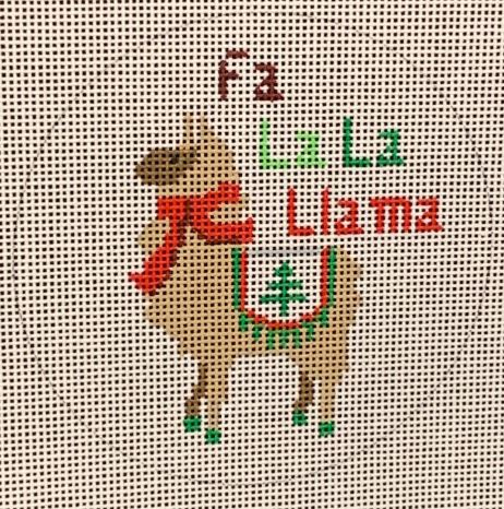 click here to view larger image of Fa La La Llama (hand painted canvases)