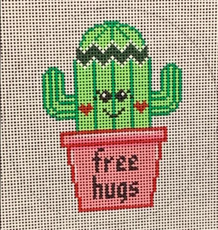 click here to view larger image of Cactus Free Hug (hand painted canvases)