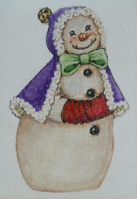 click here to view larger image of Snowman - Bell (hand painted canvases)