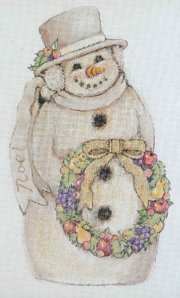click here to view larger image of Snowman - Noel (hand painted canvases)