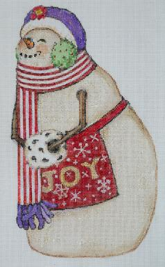 click here to view larger image of Snowman - Joy (hand painted canvases)