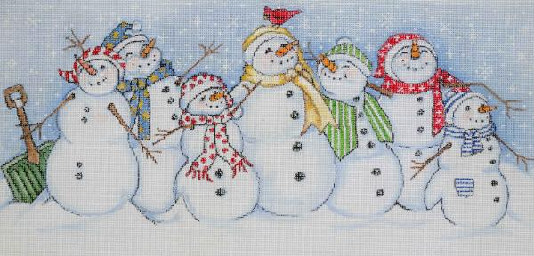 click here to view larger image of Snowman All Together (hand painted canvases)