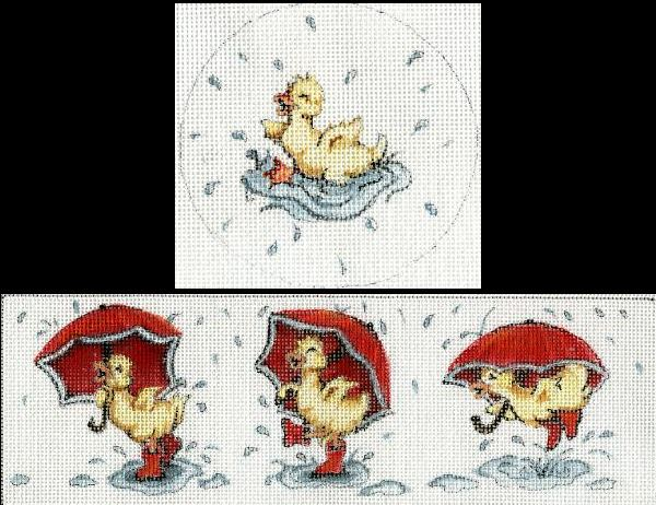 click here to view larger image of Baby Duck & Umbrella Box (hand painted canvases)