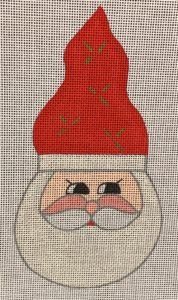 click here to view larger image of Holly Berry Santa  (hand painted canvases)