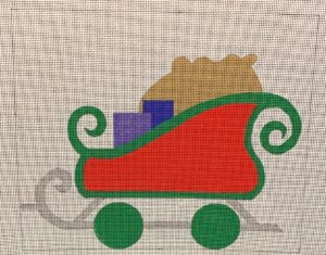 click here to view larger image of Christmas Train Sleigh (hand painted canvases)