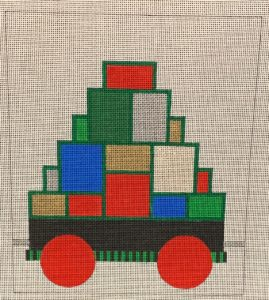 click here to view larger image of Christmas Train Box Car (hand painted canvases)