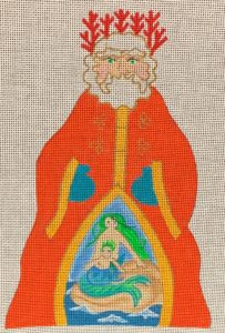 click here to view larger image of King of the Sea Santa  (hand painted canvases)