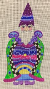 click here to view larger image of Celestial Night Santa  (hand painted canvases)