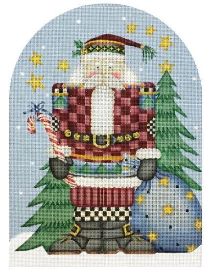 click here to view larger image of Santa Nutcracker  (hand painted canvases)