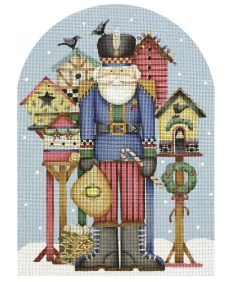 click here to view larger image of Nutcracker Bird Feeder (hand painted canvases)