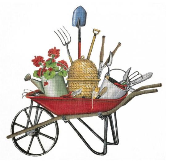 click here to view larger image of Red Wheel Barrow (hand painted canvases)