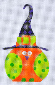 click here to view larger image of Orange Witch Owl (hand painted canvases)