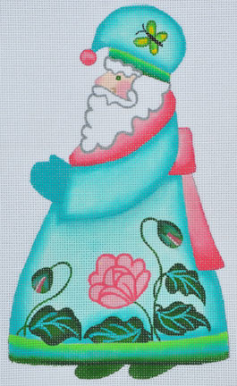 click here to view larger image of Peony Santa  (hand painted canvases)