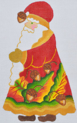 click here to view larger image of Acorn Santa  (hand painted canvases)
