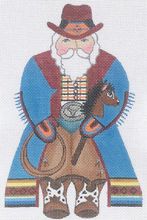 click here to view larger image of Cowboy Santa  (hand painted canvases)