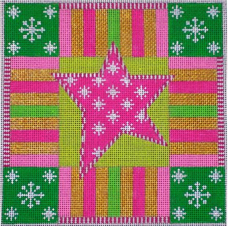 click here to view larger image of Holiday Star (hand painted canvases)