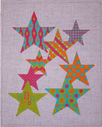 click here to view larger image of Falling Stars (hand painted canvases)