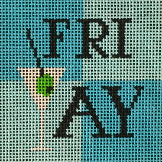 click here to view larger image of Friyay - Turquoise (hand painted canvases)