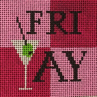 click here to view larger image of Friyay - Pink (hand painted canvases)