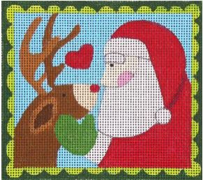 click here to view larger image of Santa's Little Helper (hand painted canvases)