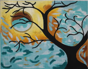 click here to view larger image of Autumn Silouette I  (hand painted canvases)