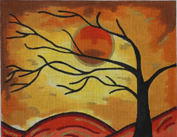 click here to view larger image of Autumn Silouette II (hand painted canvases)