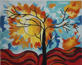 click here to view larger image of Autumn Silouette IV (hand painted canvases)