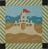 click here to view larger image of Beach Sandcastle (hand painted canvases)
