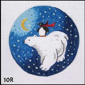 click here to view larger image of Penguin Riding Polar Bear (hand painted canvases)