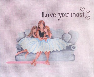 click here to view larger image of 3 Girls on a Sofa (hand painted canvases)