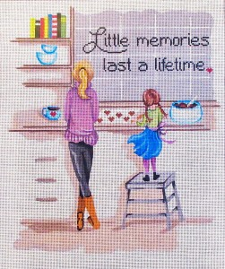 click here to view larger image of Baking Memories (hand painted canvases)