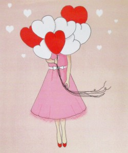 click here to view larger image of Valentine Princess (hand painted canvases)