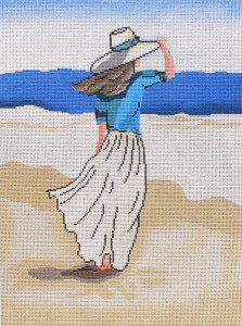 click here to view larger image of Beach Lady no Flag (hand painted canvases)