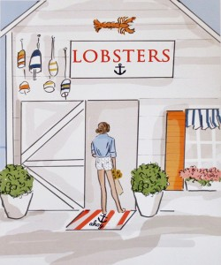 click here to view larger image of Lobsters (hand painted canvases)
