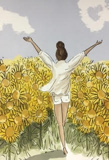 click here to view larger image of Sunflower Fields (hand painted canvases)