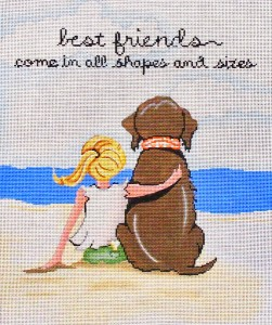 click here to view larger image of Best Friends  (hand painted canvases)