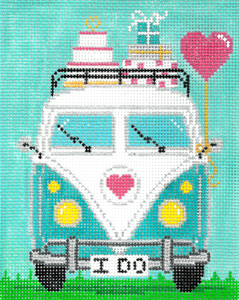click here to view larger image of Micro Bus - Wedding (hand painted canvases)