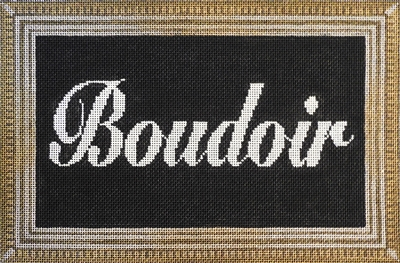 click here to view larger image of Boudoir Sign (hand painted canvases)