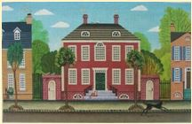 click here to view larger image of Morning Townhouse  (hand painted canvases)