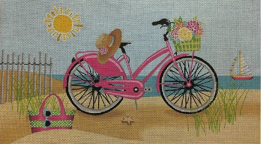 click here to view larger image of Summertime Bike  (hand painted canvases)