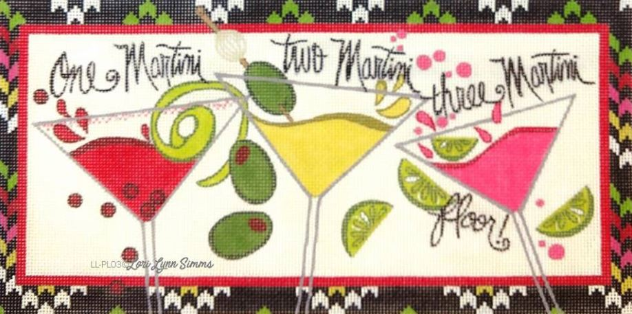 click here to view larger image of One Martini Two (hand painted canvases)