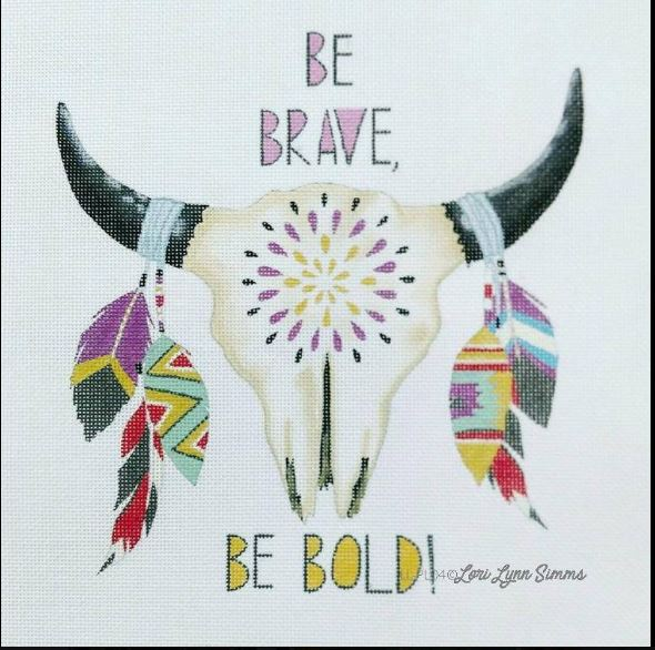 click here to view larger image of Be Brave (hand painted canvases)