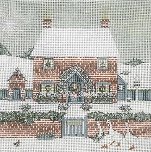 click here to view larger image of Snow Covered House (hand painted canvases)