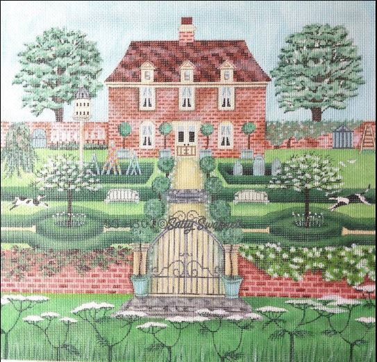 click here to view larger image of Manor House (hand painted canvases)