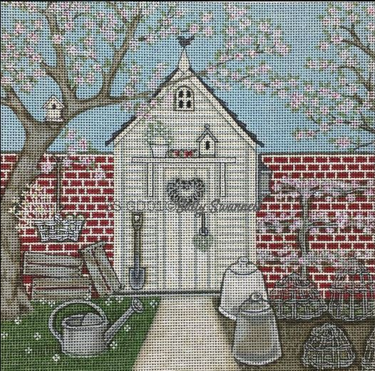 click here to view larger image of Potting Shed (hand painted canvases)