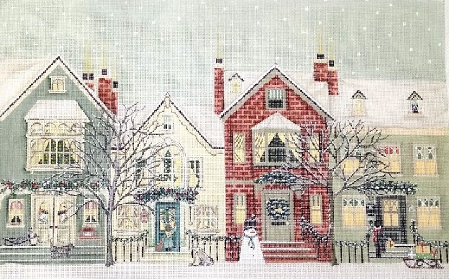 click here to view larger image of Snowy Street (hand painted canvases)