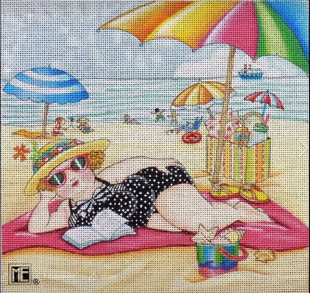 click here to view larger image of At the Seaside (hand painted canvases)