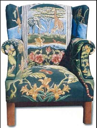 click here to view larger image of Jungle Scenes Child's Wing Back Chair (Wooden Chair only) (None Selected)