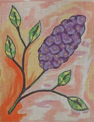 click here to view larger image of Lilac (hand painted canvases)