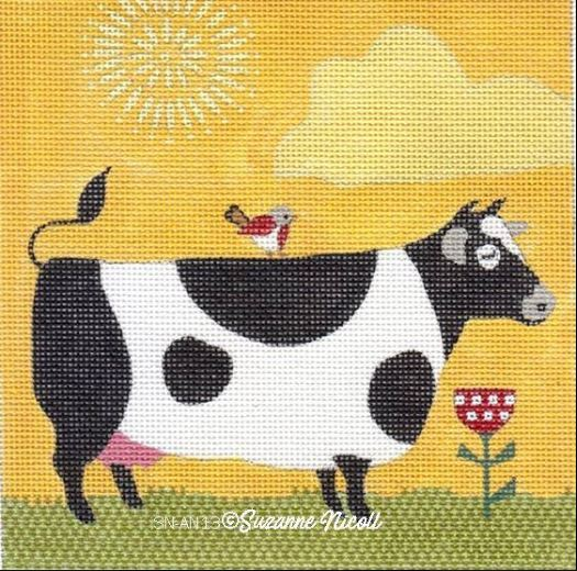 click here to view larger image of Farm Cow (hand painted canvases)